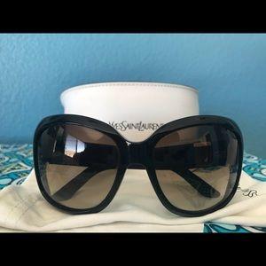 Yves St. Laurent Black Sunglasses